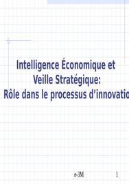 Veille strategique et intelligence economique