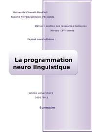La programmation neuro lunguistique