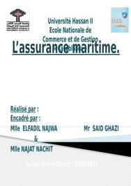 Les particularités de l'assurance maritime