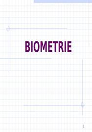 Cours sur la biometrie