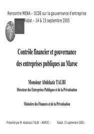 Controle des entreprises publiques