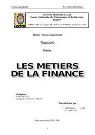 Les domaines en finance