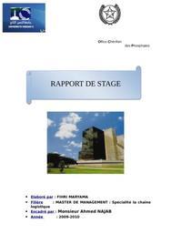 Rapport de stage logistique ocp