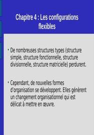 Les configurations flexibles