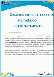 Commentaire de texte : « Les Châtiments » de Victor Hugo