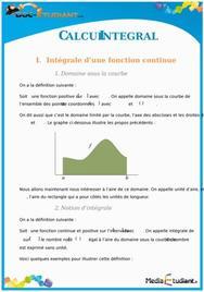 Le calcul intégral : Cours Terminale S