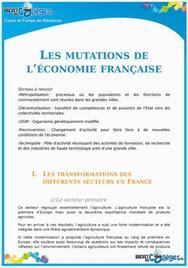 Les mutations de l'économie Française
