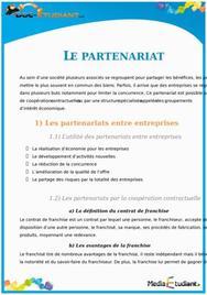 Le Partenariat en Droit : Cours Droit Terminale STG