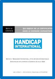 Rapport de stage Handicap International