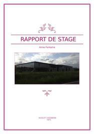 Rapport de stage stylisme