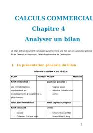 Calculs commerciaux : analyser un bilan