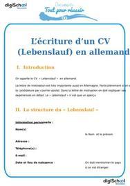 Rédiger son CV en allemand