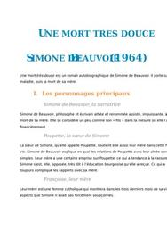 Une mort très douce, Simone de Beauvoir