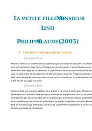 Fiche de lecture : La Petite fille de Monsieur Linh, Philippe Claudel