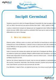 Fiche de lecture Incipit Germinal
