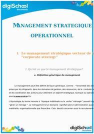 Management stratégique et opérationnel : chapitre 5