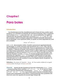 Paraboles - Equation du second degré