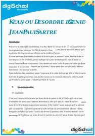 Kean ou Désordre et Génie - Jean Paul Sartre