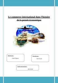 Le commerce international dans l'histoire de la pensée économique
