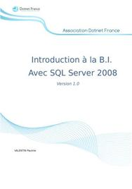 Introduction à la Business Intelligence avec SQL Server 2008