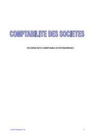 La comptabilité des sociétés