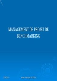 Management de projet de benchmarking