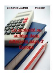 La scolarité dans différents pays d'europe
