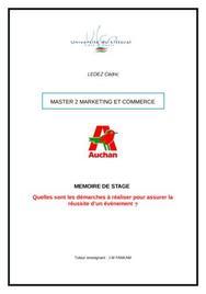Mémoire de Stage Auchan - Evénementiel Stage