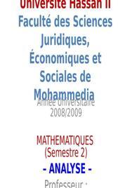 Mathématique analyse 1