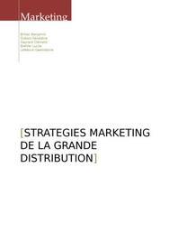 Strategies marketing de la grande distribution
