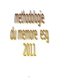 Methodologie de redaction d'un mémoire