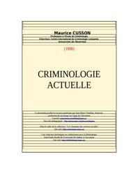 Criminologie en droit privé