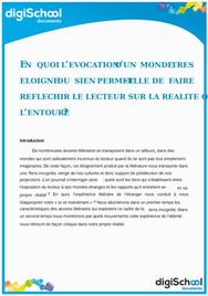 dissertation role du romancier