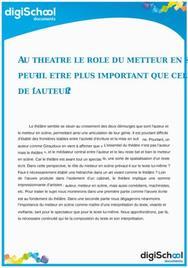 Le rôle du metteur en scène peut-il être plus important que celui de l'auteur ?