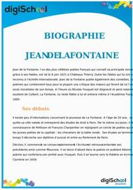 Biographie Jean de La Fontaine