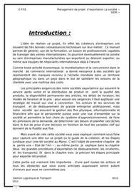Management de projet  d'exportation la société ‹‹ siem ››