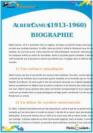 Biographie de Albert Camus