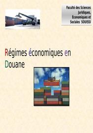 Régimes économiques en douane