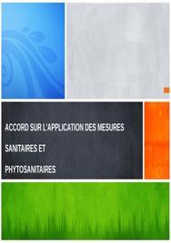 Accord sur l'application des mesures sanitaires et phytosanitaires