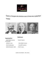 La révolution russe et chinoise