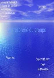 La trésorerie du groupe
