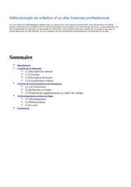 Méthodologie de création d'un site internet professionnel