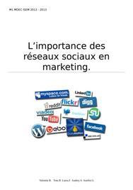 L'importance des réseaux sociaux en marketing.