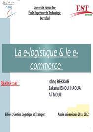 E-logistique & e commerce