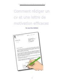 Comment rédiger un cv et une lettre de motivation efficaces