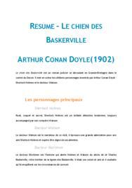 Doc - Le chien des Baskerville, Conan Doyle fiche de lecture