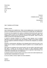 Doc - Lettre de motivation DUT Biologie