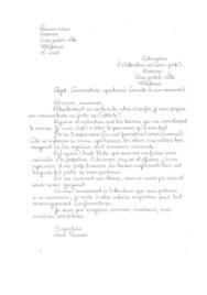 Doc - Lettre de motivation manuscrite