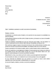 Doc - Lettre de motivation humanitaire