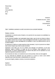 Doc - Lettre de motivation handicap